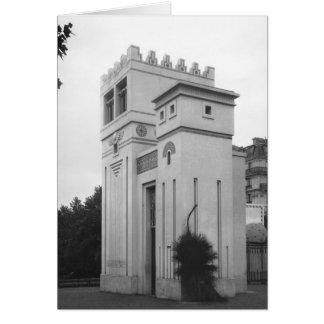 Casa asiria, exposición universal, París Tarjeta De Felicitación