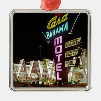 Casa Bahama Motel in Wildwood, New Jersey, 1960's Metal Ornament