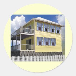 Casa bahamesa pegatina redonda