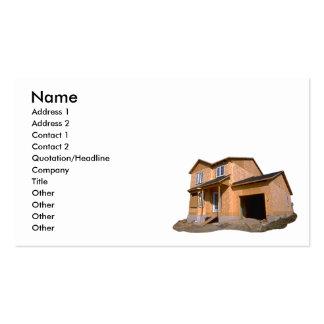 casa bajo construcción tarjeta de visita