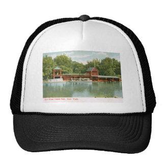 Casa barco, Central Park, New York City Vinta 1918 Gorro