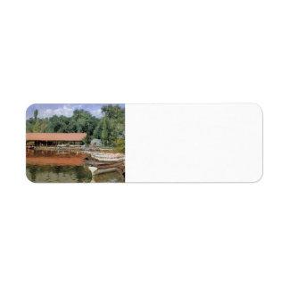 Casa barco de la caza de Guillermo, parque de la p Etiquetas De Remite