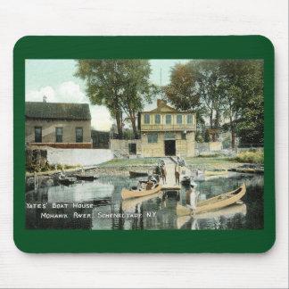 Casa barco de Yates, Schenectady, vintage de NY Tapete De Ratones