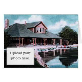 Casa barco tarjeta de felicitación