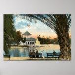 Casa barco, vintage 1914 de Los Ángeles del parque Poster