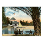 Casa barco, vintage 1914 de Los Ángeles del parque Tarjeta Postal