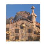 Casa Batilo, Gaudi Architecture, Barcelona, Note Pad
