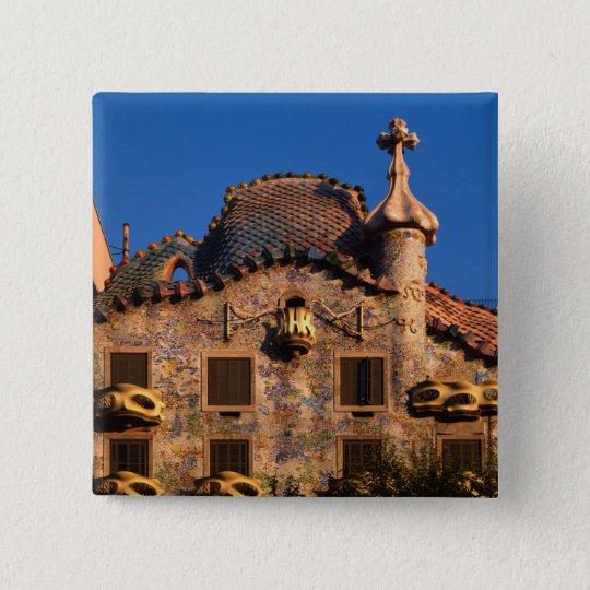Casa Batilo, Gaudi Architecture, Barcelona, Pinback Button