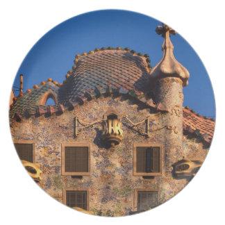 Casa Batilo, Gaudi Architecture, Barcelona, Plates