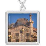 Casa Batilo, Gaudi Architecture, Barcelona, Square Pendant Necklace