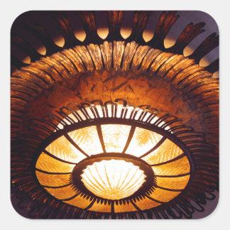 Casa Batllo interiour chandellier Square Sticker