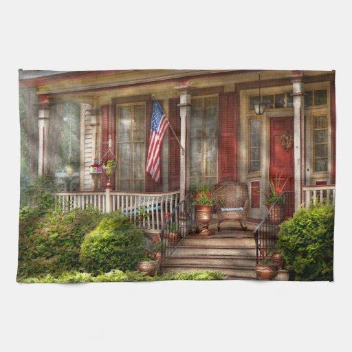 Casa - Belvidere, NJ - un hogar americano clásico Toallas
