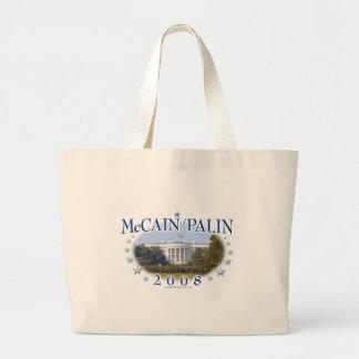 Casa Blanca 2008 de McCain Palin Bolsa Tela Grande