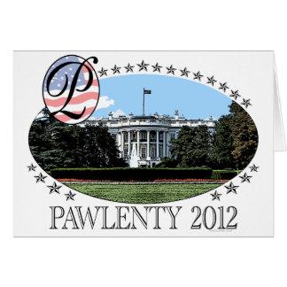 Casa Blanca 2012 de Pawlenty Tarjeta De Felicitación