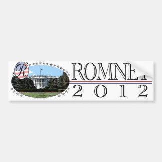 Casa Blanca 2012 de Romney Pegatina Para Auto