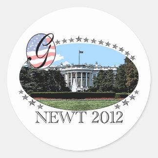 Casa Blanca 2012 del Newt Etiquetas Redondas