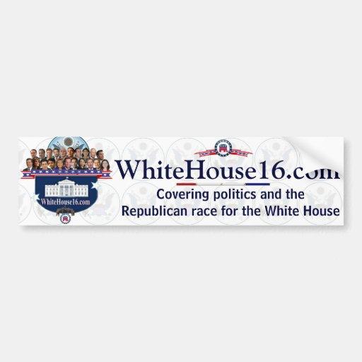 Casa Blanca 2016 candidatos presidenciales de G.O. Pegatina De Parachoque