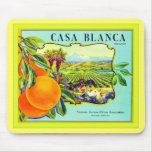 Casa Blanca Brand Oranges ~ Vintage Fruit Crate Mouse Pads