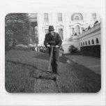 Casa Blanca, césped verde, los años 30 Alfombrilla De Ratones