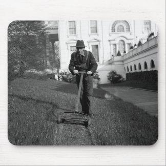 Casa Blanca césped verde los años 30 Alfombrilla De Ratones
