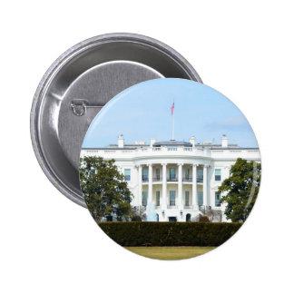 Casa Blanca del césped Pin Redondo De 2 Pulgadas