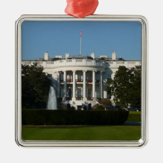 Casa Blanca del navidad para el Washington DC de Adorno Navideño Cuadrado De Metal