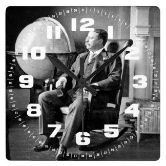 Casa Blanca del vintage de presidente Teddy Roosev Reloj Cuadrado