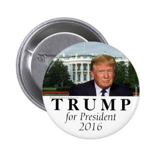 Casa Blanca Donald Trump para el presidente foto Pin Redondo De 2 Pulgadas