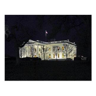 Casa Blanca en el Washington DC 003 de la noche Postal