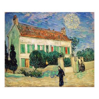 Casa Blanca en la noche de Vincent van Gogh Arte Fotográfico