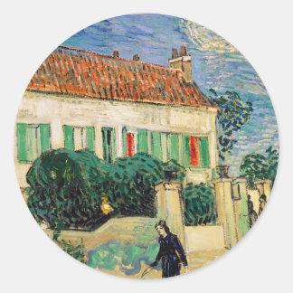Casa Blanca en la noche - Van Gogh 1890 Etiquetas