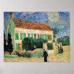 Casa Blanca en la noche - Van Gogh (1890) Impresiones