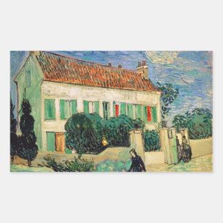 Casa Blanca en la noche - Van Gogh 1890 Pegatinas