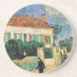 Casa Blanca en la noche - Van Gogh (1890) Posavaso Para Bebida