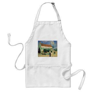 Casa blanca en la noche - Vincent van Gogh Delantal