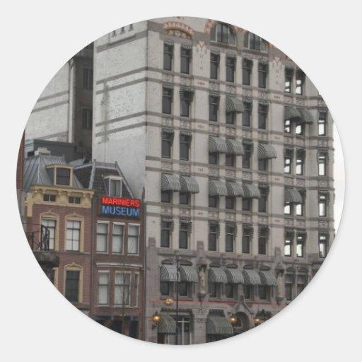 Casa Blanca, Rotterdam Pegatina Redonda