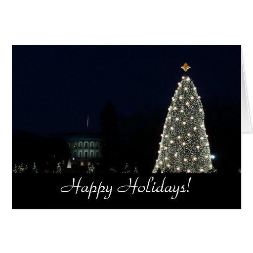 Casa Blanca y tarjeta nacional del árbol