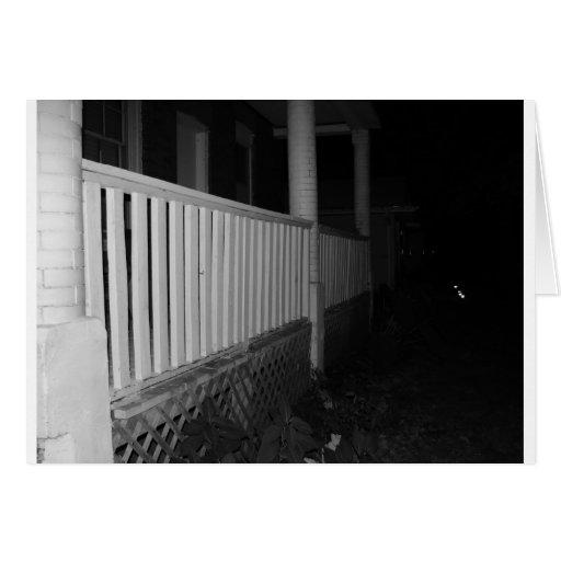 casa blanco y negro tarjeta de felicitación