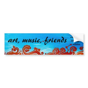 Beach Themed Casa Bonita Bumper Sticker, Art Music Friends Bumper Sticker