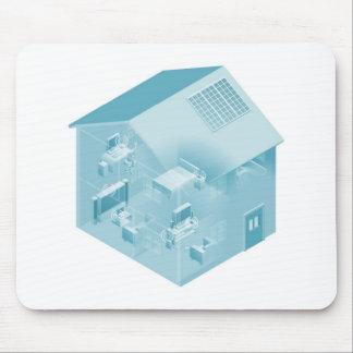 Casa casera de la red de área local tapetes de ratones