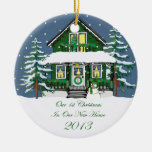 Casa casera del muñeco de nieve de 2013 nueva navi ornamento para reyes magos