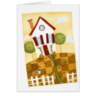 casa cocinada tarjeta de felicitación