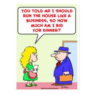 casa como cena de la oferta del negocio postales