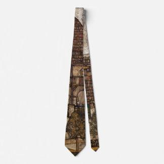 Casa con el tejado de la tabla de Egon Schiele Corbata Personalizada