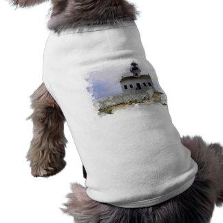 Casa con la camisa del mascota del faro camisetas de perrito