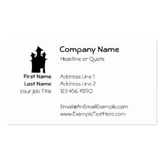 Casa con tres torres plantilla de tarjeta de negocio