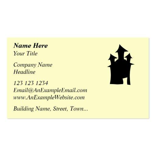 Casa con tres torres plantillas de tarjetas personales