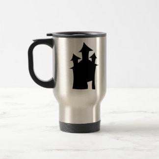 Casa con tres torres taza de café