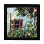Casa con una ventana salediza en el jardín caja de recuerdo