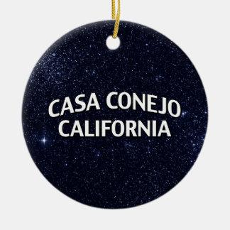 Casa Conejo California Ceramic Ornament